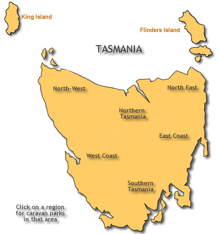 Location Guide Caravan Motorhome Camper Park Accommodation Tassie