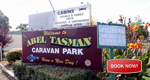 Devonport Caravan Parks Abel Tasman Powered Site Cabin Accommodation