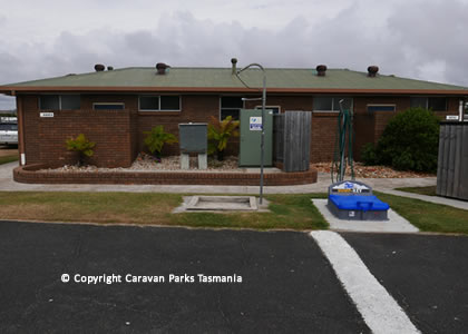 Ulverstone Caravan Park Apex Buttons Creek Accommodation Tents Camping Unpowered Powered Sites